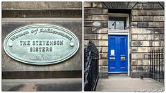 !3 Randolf Cresent, Edinburgh (FotoFling Scotland) Tags: edinburgh randolfcrescent stevensonsisters plaque fotoflingscotland