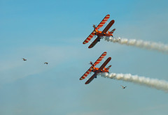On a wing (focusmania) Tags: blackpool airshow air show planes wing walkers
