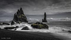 Black sand beach (Dani Maier) Tags: iceland is black sand beach ocean waves rocks