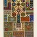 Byzantine pattern from L'ornement Polychrome (1888) by Albert Racinet (1825–1893). Digitally enhanced from our own original 1888 edition.