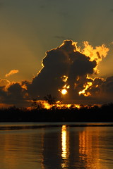 REFLECTION (R. D. SMITH) Tags: clouds water sun florida sky sunrise reflection canoneos7d
