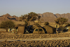 Camping in the desert. (DH20) Tags: desert sun camping outdoors goldenhour canon eos450d sunset namibia sossusvlei