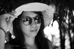 summer day in the shade (steve: they can't all be zingers!!! (primus)) Tags: sonya7r chinonauto55mmf17 sony primelens prime beautiful girltaiwanese woman monochrome