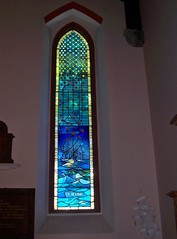 Piper Alpha Memorial Window, Ferryhill Parish Church, Aberdeen, 30th anniversary of the disaster, 6th July 1988 - 6th July 2018 (allanmaciver) Tags: piper alpha disaster oil rig 167 men lost open church remember film events night solemn sad allanmaciver aberdeen north east sea scotland stained glass colours