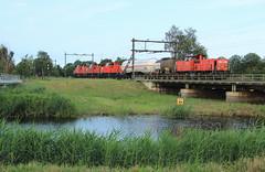 DB Cargo 6416-6463+6516+6469 @ Zwolle (Sicco Dierdorp) Tags: db dbc cargo serie6400 vlaamsereus unitcargo ketelwagen keteltrein omleiding ijssellijn zwolle herfte meppel onnen kijfhoek brug wetering