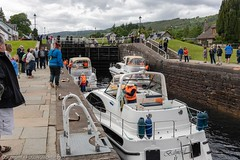 Fort Agustus Caledonian Canal (doublejeopardy) Tags: canal boat scotland highlands caledonian lock fortaugustus unitedkingdom gb