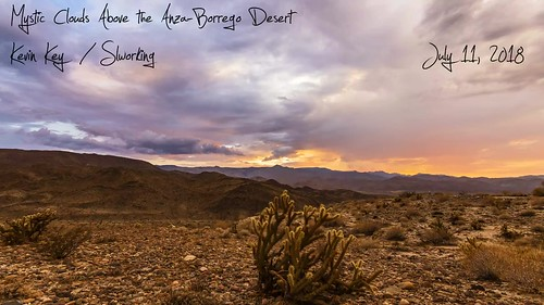 Mystic Storm Clouds And Sunset Above the Anza-Borrego Desert on July 11, 2018