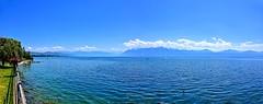 Panorama lémanique (Diegojack) Tags: saintsulpice vaud suisse d7200 nikon nikonpassion paysages léman lac bleu groupenuagesetciel