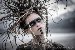 """TEATRONATURA """"The creature of the earth"""" (valeriafoglia) Tags: creative composition capture colors creature tribal earth eyes dark dakness model makeup magic art atmosphere amazing fantasy face photography photo pretty portrait beautiful outfit stylist"""