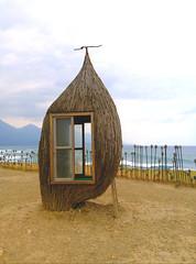 who says you can't go home (Yoman H) Tags: taiwan kararuan taitung asia landscape seascape cabin arts sand beach mountains sea ocean pacificocean 加路蘭 台東 cloudy sightseeing