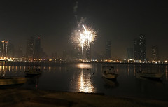 Firework in Sharjah (Irina.yaNeya) Tags: sharjah uae emirates city urban architecture buildings sky firework night sea ocean water reflection boat coast beach shore iphone eau cielo ciudad arquitectura edificio skyscraper noche mar agua reflejo barco costa playa الامارات الشارقة مدينة فنمعماري بناء برج سماء ليل بحر ماء قرية شاطئ шарджа оаэ эмираты город архитектура небо небоскреб салют ночь море вода отражение лодка берег пляж