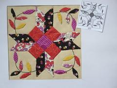 Chuck Nohara Block Nr. 459 (ompompali Claudia) Tags: chucknohara applique handstitching quilts quilting quilt