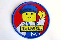Town woven patch (BF Bricks) Tags: lego ephemera collectible patch sew embroidered 90s 80s