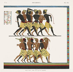 Great Speos: South wall. Sequence of triumph from Monuments de l'Égypte et de la Nubie (1835-1845) by Jean François Champollion (1790-1832). Digitally enhanced by rawpixel. (Free Public Domain Illustrations by rawpixel) Tags: abusimbel abusimbeltemple egyptian otherkeywords action african ancient antique army art battle cc0 color descent discover drawing egypt greatspeos group handicraft historical history illustration jeanfranã§oischampollion monumentsdelãgypteetdelanubie monumentsofegyptandnubia motion mural myth mythological mythology old painted people row sequence sketch soldier south speos story symbolize team temple tomb triumph vintage walking wall war worship jeanfrançoischampollion monumentsdelégypteetdelanubie