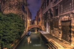 Venezia_1166 (ivan.sgualdini) Tags: italy night seaitaliano blue boat bridge canal canale city hour italia longexposure mood ponte quiet sotoportegodelmagazen still venezia venice