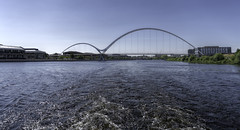 Infinity Bridge (Durham George) Tags: infinity bridge tees stockton river water boat princess