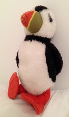 Look Out, There's a Puffin About (RoystonVasey) Tags: apple iphone 5 northumberland bamburgh puffin bird stuffed toy plushie