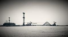 abu tartour - Egypt (paolopalmaflick) Tags: egypt northafrica desert industrial landscape panorama blackandwhite view