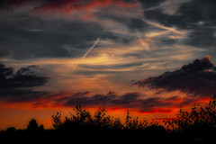 Fantastic clouds ... (Julie Greg) Tags: clouds colours england evening fujifilmxt20 fujifilm sky sunset trees