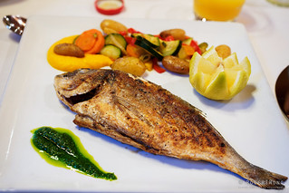 20180705-16-Grilled fish at Mercure Hotel  in Les Bossons