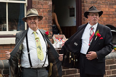 Pair of spivs (f22photographie) Tags: candidphotography 1940sweekends blackcountrylivingmuseum vintage clothing suits vintageclothing tie ties braces buttonholeswithroses spivs watches people
