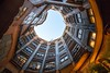 gaudi's moon 高迪之月 (nzfisher) Tags: gaudi moon architecture building pedrera round shape lines circular barcelona spain travel holiday window 24mm canon orange patio