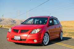 DSC_0770 (jaytotheveezy) Tags: pontiac vibe base lava red 1zz work crkai kiwami ultimate bcracing coilovers toyo tires genvibe