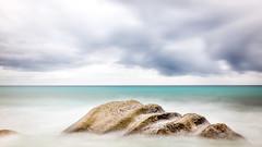 Heavy Cloud (Cédric Fumière) Tags: clouds cloudysky exotic horizon longexposure rock sea seychelles turquoise water glacis sc