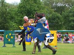DSCF3641 (SierPinskiA) Tags: ruffordabbeycountrypark rufford knightsofnottingham fujixs1 jousting medieval horse knights goldeneagle falcon