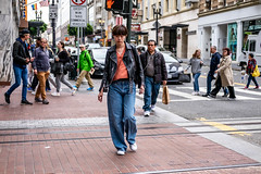 San Francisco 2018 (burnt dirt) Tags: sanfrancisco california vacation town city street road sidewalk crossing streetcar cablecar tree building store restaurant people person girl woman man couple group lovers friends family holdinghands candid documentary streetphotography turnaround portrait fujifilm xt1 color laugh smile young old asian latina white european europe korean chinese thai dress skirt denim shorts boots heels leather tights leggings yogapants shorthair longhair cellphone glasses sunglasses blonde brunette redhead tattoo pretty beautiful selfie fashion japanese tracks orange blue sign
