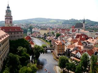 Blick auf Krumau / View to Český Krumlov