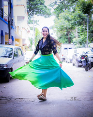 Celebrate life! (karthik sridharan83) Tags: canon t3i fashion portrait modeling dance skirt india bangalore sigma 1835mm f18