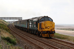 37402 'Stephen Middlemore 23.12.1954 - 8.6.2013' (Cumberland Patriot) Tags: arriva north rail northern drs direct services ee english electric 12csvt engine type three type3 class 37 374 37402 37274 6974 d6972 oor wullie bontybermo stephen middlemore 23121954 862013 dieselelectric diesel locomotive loco motive power traction hauled push pull seascale platform cumbrian coast railway line cumbria passenger train 9710 mk2 dbso driving brake second open carriage coach railroad rails railways