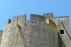 France, à Aigues Mortes, gargouille sur la Tour de Villeneuve (Roger-11-Narbonne) Tags: aiguesmortes ville médièvale tour remparts rue porte