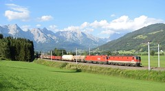 OBB Cargo Freight Train_Gerling Im Pinzgau, Austria_130718_01 (DS 90008) Tags: obb obbcargo railway mountains 1144s 1116s taurus taurusloco siemens wagons train loks locomotive electrictraction freight freightloco track gerlingimpinzgau austria austrian outdoors nature locohauled logistics