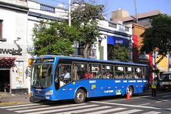 P Las Flores, Lima, Peru. (KK70088) Tags: bus servicebus lima peru plasflores vw volkswagen modasa