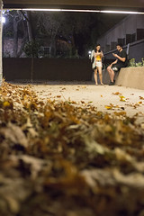(getsomejelly) Tags: night candid street photography brown leaves fall mood