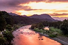 last minute light at a local river (kellypettit) Tags: bloodriver goldenhour redsky orangesky riverrunsthroughit sunset reflections beautifulnature landscape japan gunma numata tonegawa
