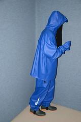 Rainwear Sweat Outfit (Warm Clothes Fetish) Tags: rainwear sweat outfit slave girl torture hijab niqab warm boots pvc rain