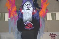 St Etienne du Grès  : le Mage (chriskatsie) Tags: streetart graffit homme man provence paint peinture mur wall art artist