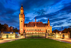 _MG_4067 - Vredespaleis in blue hour (AlexDROP) Tags: 2018 netherlands europe holland hague denhaag travel architecture skyline tower color city wideangle urban scape canon6d ef16354lis best iconic famous mustsee picturesque postcard bluehour sky