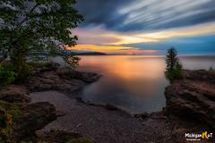 Twilight at Presque Isle Park (Michigan Nut) Tags: landscape lakesuperior marquettemichigan michigan midwest nature presqueislepark upperpeninsula sunset landsape