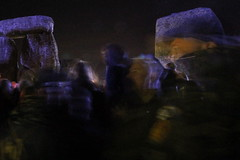 Passing thought (I.M.W.) Tags: stonehenge wiltshire salisbury plain uk england solstice summer sky blue dawn midnight stone