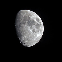 The Moon 22nd June 2018 (ajg_steyning) Tags: moon lunar crater