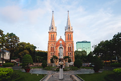 Notre dame cathedral, Ho chi minh city Vietnam (Patrick Foto ;)) Tags: aodai architecture asia asian basilica brick building cathedral catholic catholicism chi christ church city colonial culture dame dress famous female historical history ho holy icon indochina lady landmark mary minh monument notre notredame people place praying religion saigon standing statue symbol tourism tourist tower tradition travel urban vietnam vietnamese woman