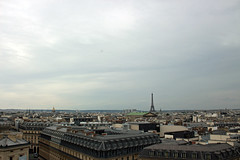 View from the Galeries Lafayette observation deck (House Of Secrets Incorporated) Tags: paris france citytrip vacances spring rooftops rooftop observationdeck building architecture galerieslafayette eiffeltower toureiffel