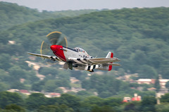 DSC_9336 (CEGPhotography) Tags: 2018 reading ww2 ww2weekend wwii wwiiweekend airshow midatlanticairmuseum pa history p51 p51d mustang rednose fighter