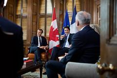2018-06-06-canada-jour-1 (Elysée - Présidence de la République) Tags: trudeau macron ottawa entretien bureau