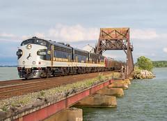NS 955 @ Sandusky Bay (Chicago Line Railfan) Tags: ns 955 ocs 4270 sandusky bay bridge f9a emd chicago line