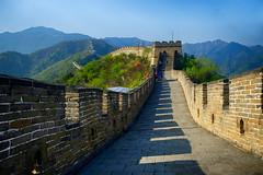 Great of Wall China at Mutianyu (` Toshio ') Tags: toshio china greatwallofchina greatwall mutianyu architecture history chinese asia asian wall fujixt2 xt2 mountains mountain nature path